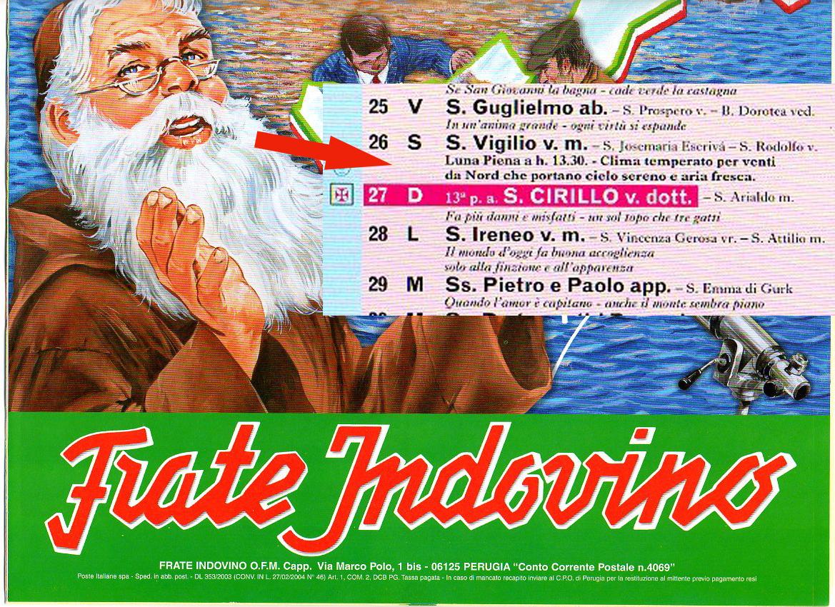Calendario Frate Indovino 2020 In Edicola.Frate Indovino Calendario